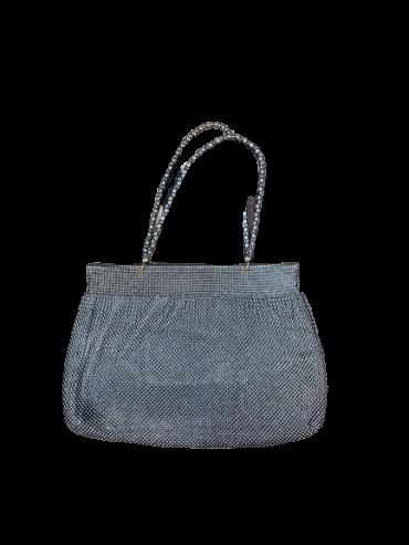 Vintage Gunmetal Beaded Bag